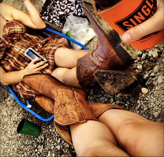 Boots and Coozies tailgating for Brad Paisley.